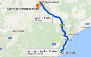 Как добраться из Партенита до аэропорта Симферополя и обратно