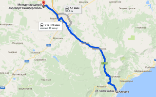Как добраться от Алушты до аэропорта Симферополя и обратно