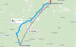 Как добраться из Сыктывкара до аэропорта Ухты и обратно