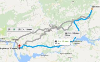 Как добраться из Ижевска до аэропорта Казани и обратно