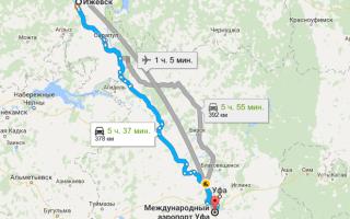 Как добраться из Ижевска до аэропорта Уфы и обратно