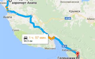 Как добраться из аэропорта Анапы до Геленджика и обратно